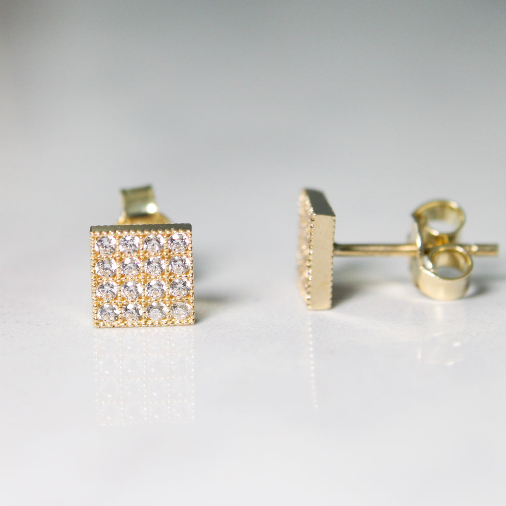 Cubic Zirconia Square Earrings