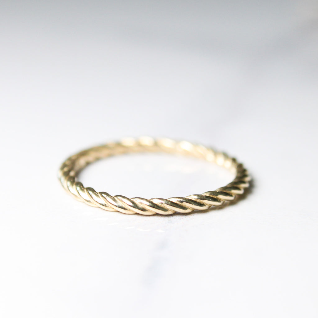 Twisted Gold Ring
