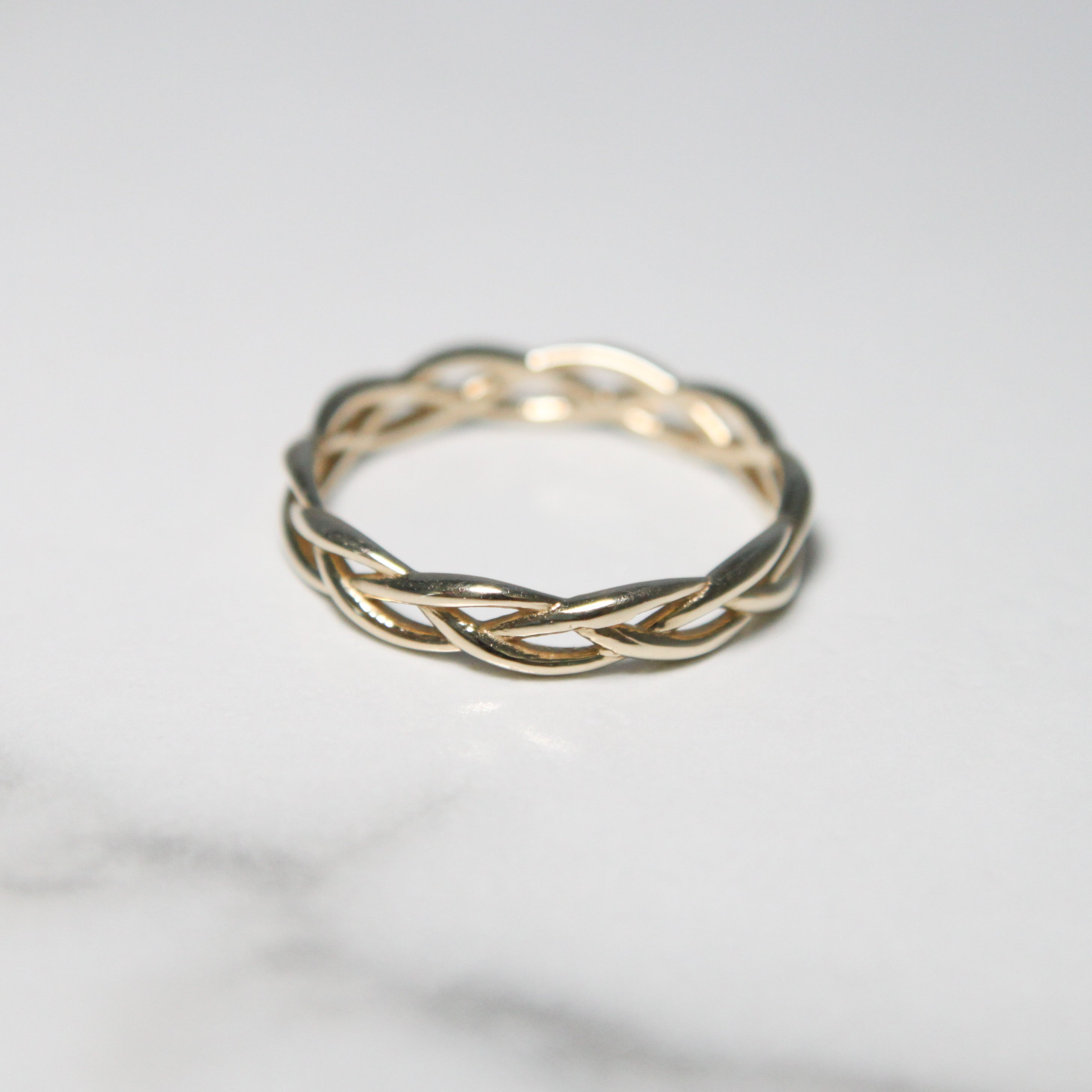 Wide Twisted Gold Ring