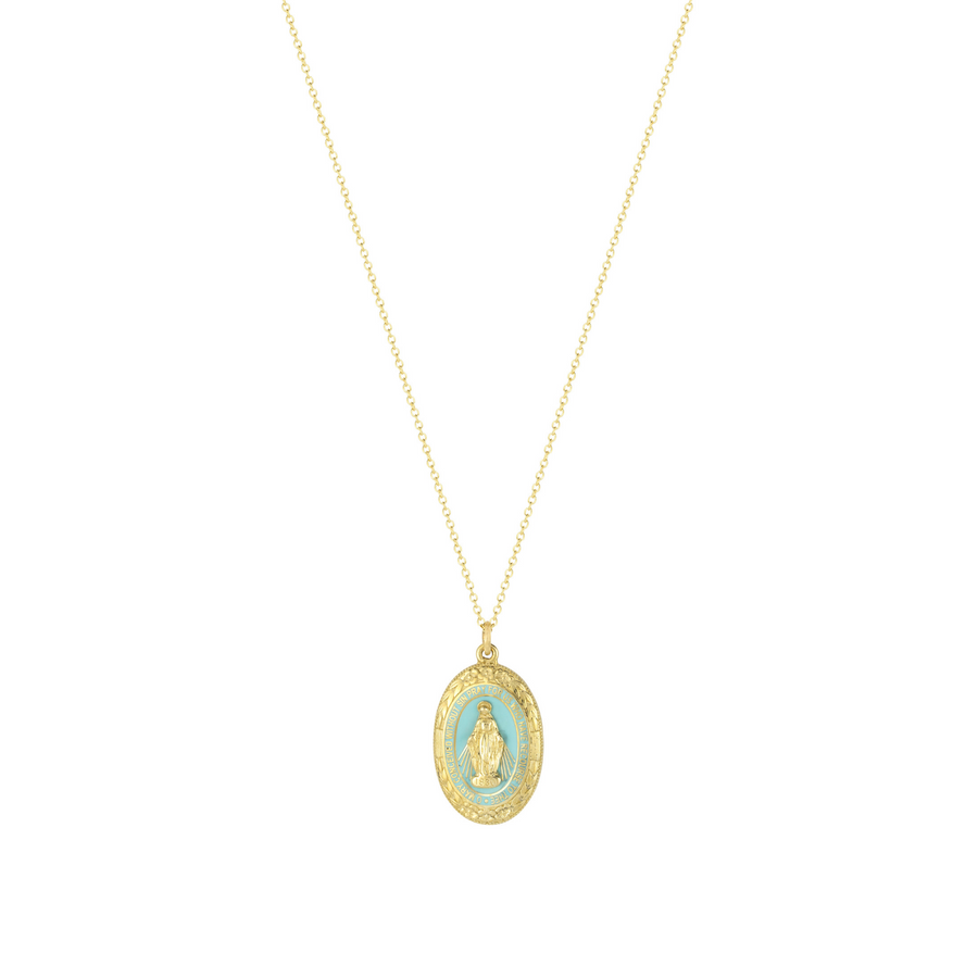 Miraculous Medal in Yellow Gold