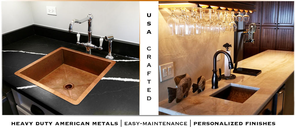 Wet bar and prep sinks in Orlando FL. Select from custom undermount and topmount wet bar sink by Havens Metal.