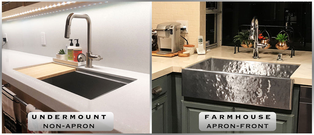 Undermount and farmhouse sinks Orlando FL. Select from custom and standard in stock size sinks in all inches. Hammered stainless steel finishes, and workstation sinks are available at The Havens Gallery.