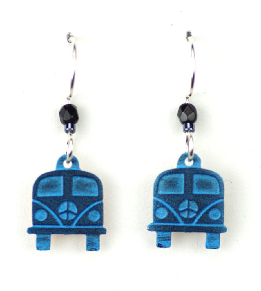 Blue VW Bus Earrings