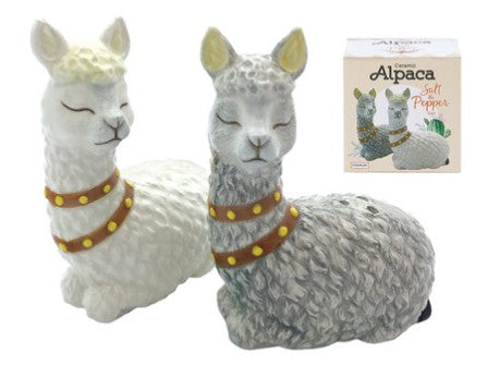 Alpaca Salt and Pepper Shakers