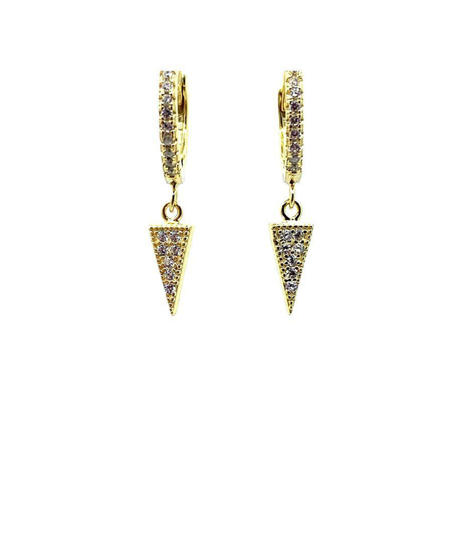 Huggie Earring with Triangle