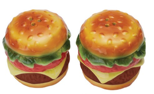 Cheeseburger Salt and Pepper Shakers