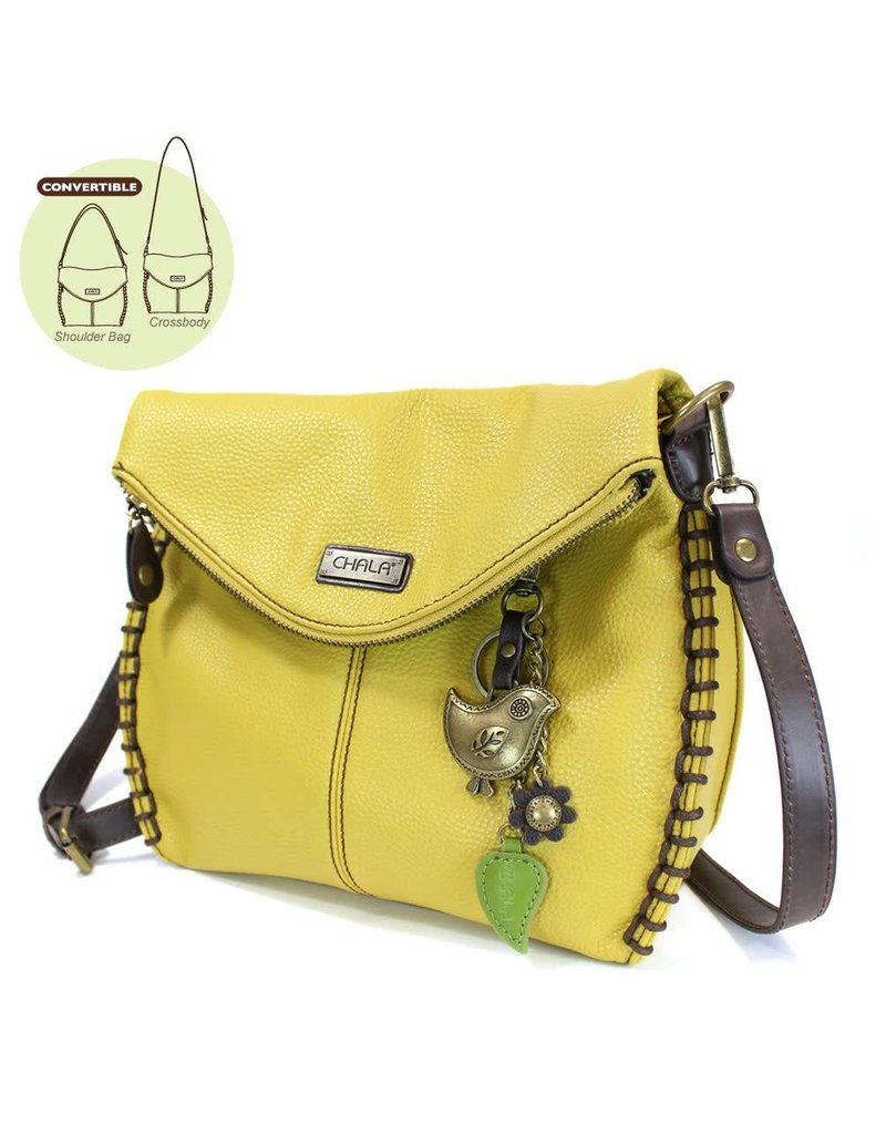 Crossbody Purse - Mustard Bird