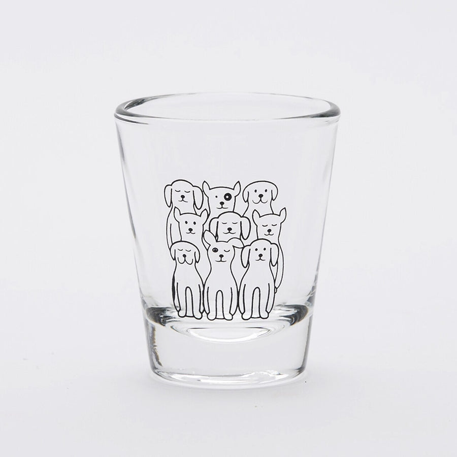 Dogs on Dogs Shot Glass