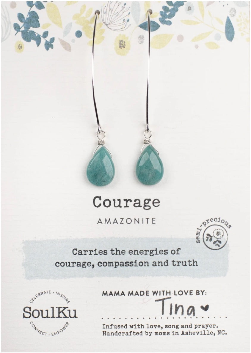 Amazonite Courage Earrings