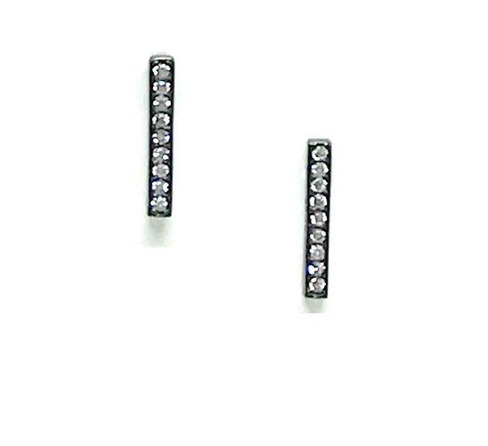 Crystal Micropave Bar Stud