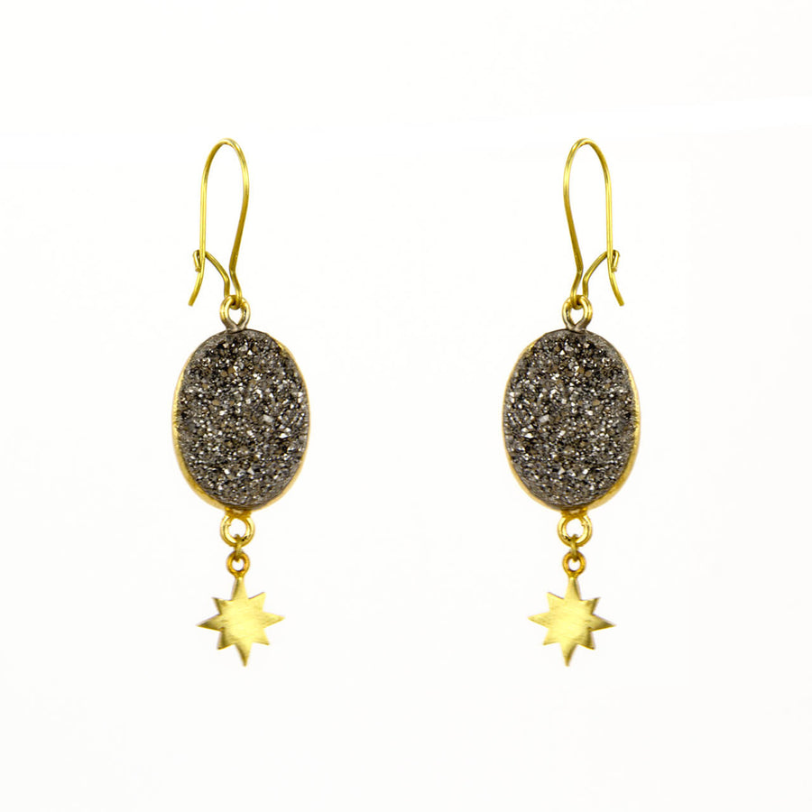 Druzy Sunburst Earrings