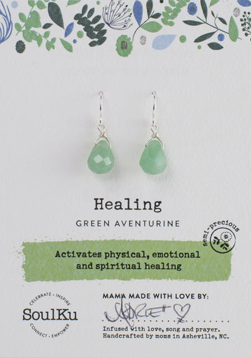 Aventurine Healing Earrings (Short)