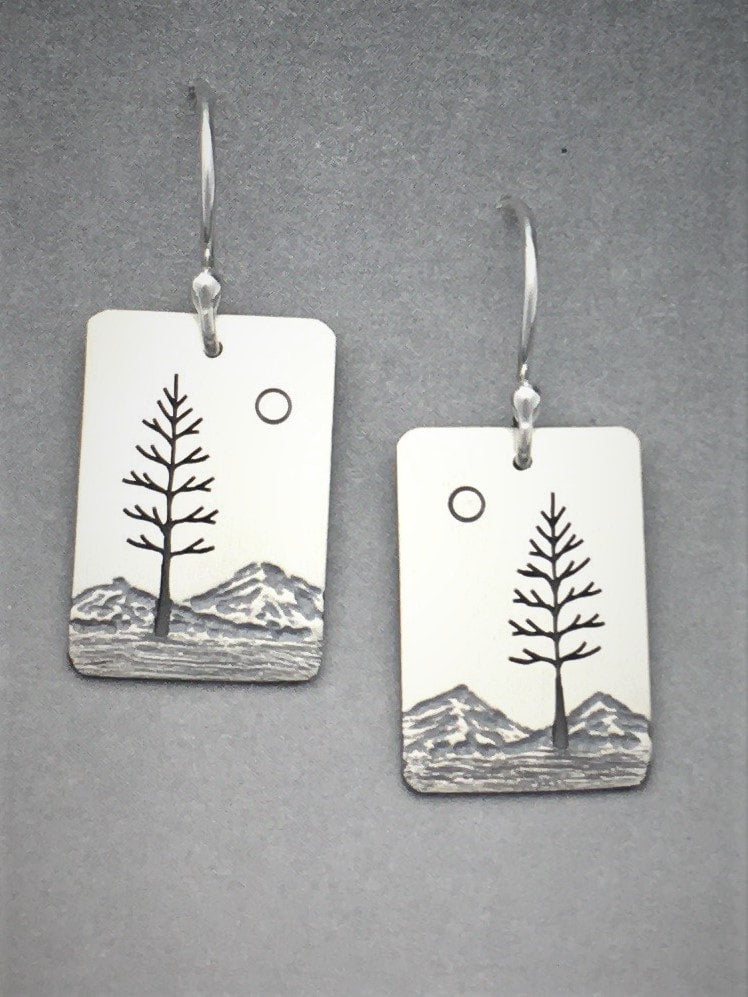 Pine With Sun Earrings