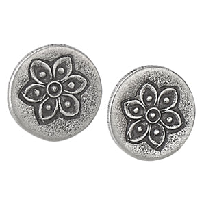 Disk Studs with Flower Stamp