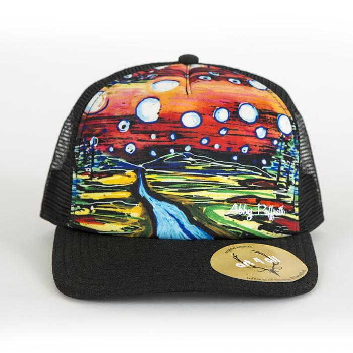 High Profile Trucker Hat - Bubble Sky