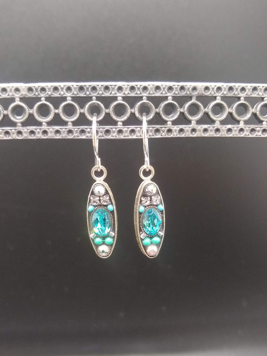 Oval Ice Earrings