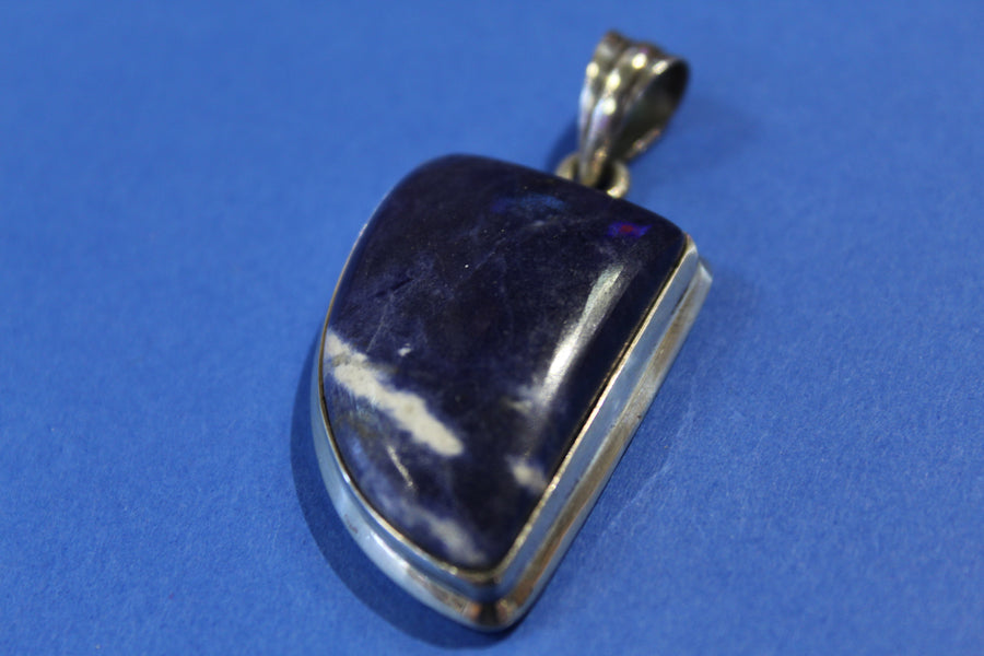 Rounded Triangle Sodalite Pendant