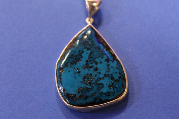 Arizona Lightning Blue Chrysocolla Pendant