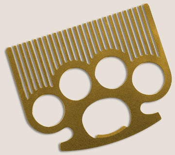 Brass Knuckle Pocket Comb