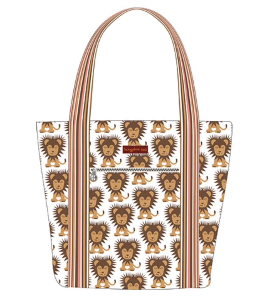 Lion Striped Tote