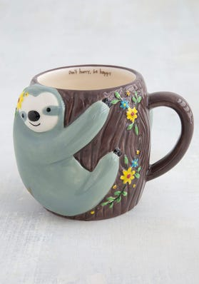 Be Happy Sloth Mug