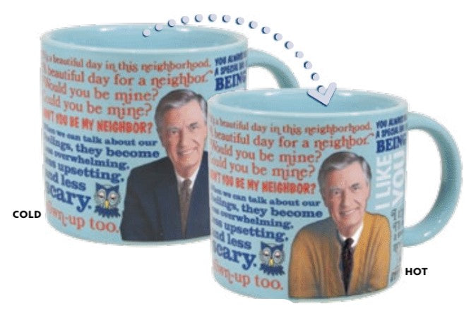 Mr. Rogers Sweater Changing Mug