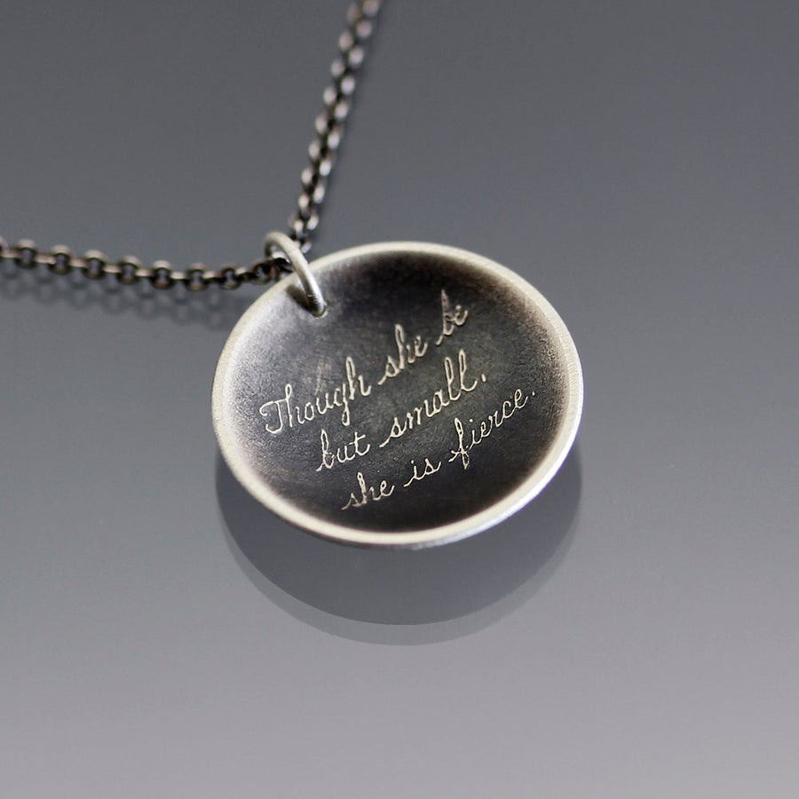 Shakespeare Quote Silver Necklace