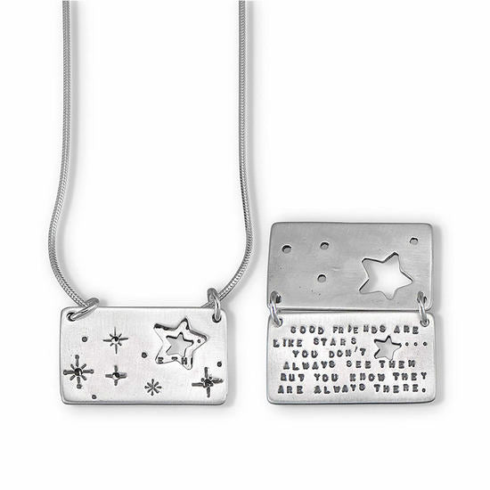 Starry Night Silver Necklace
