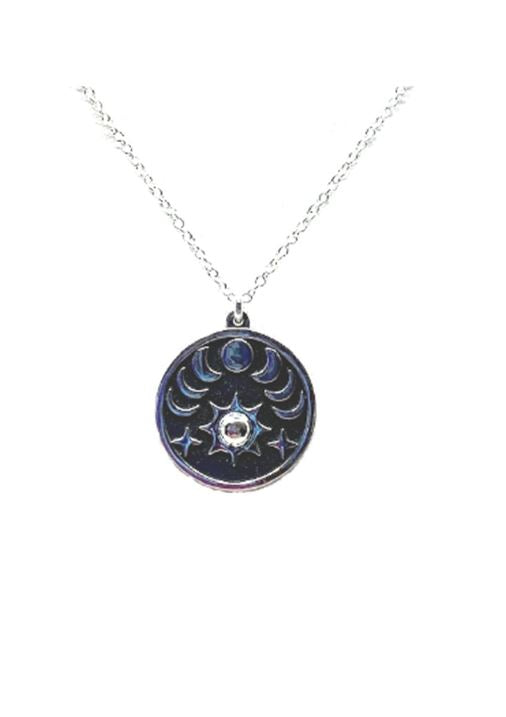 Sun and Phases of the Moon Necklace