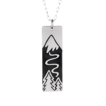 Winter Ski Slope Necklace