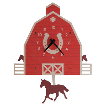 Barn and Horse Pendulum Clock