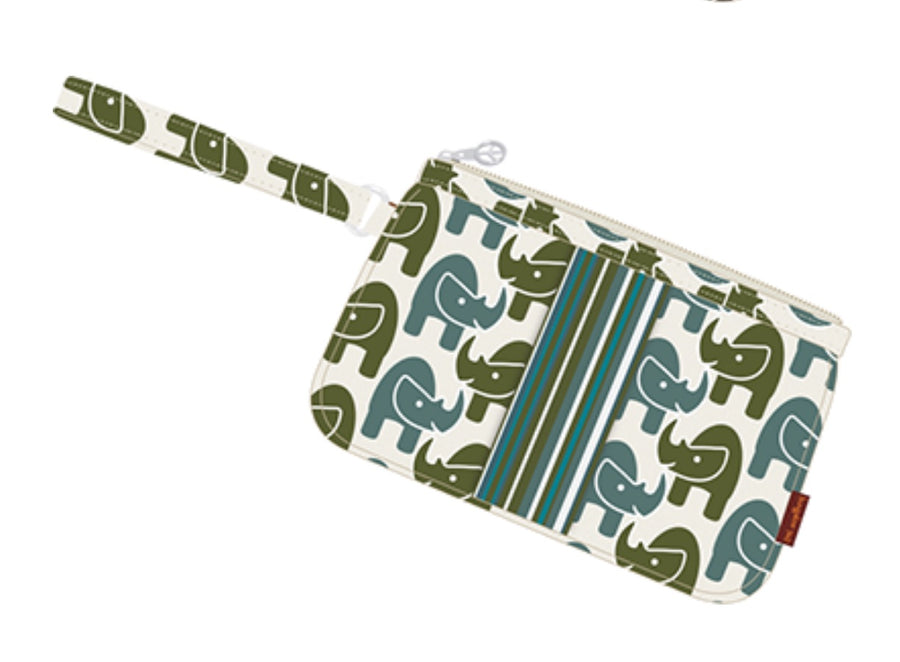 Rhino Striped Wristlet