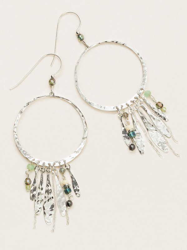 Silver Altamira Hoop Earrings