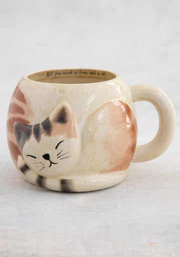 'All You Need is Love and a Cat' Cozy Cat Mug