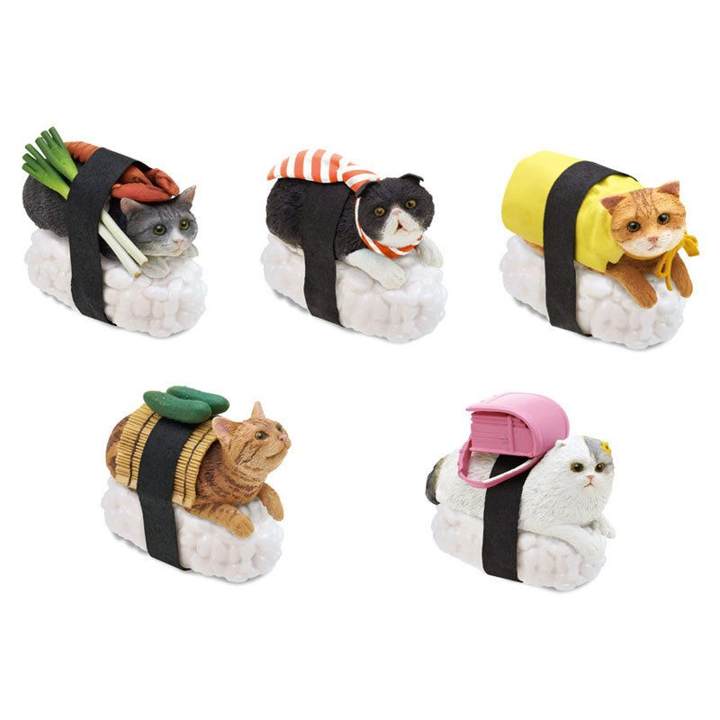 Sushi Cat Keychains (Box 1)