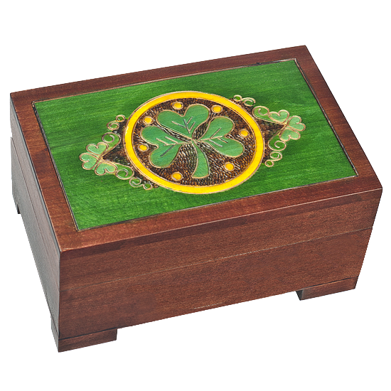 Celtic Lucky Wooden Box