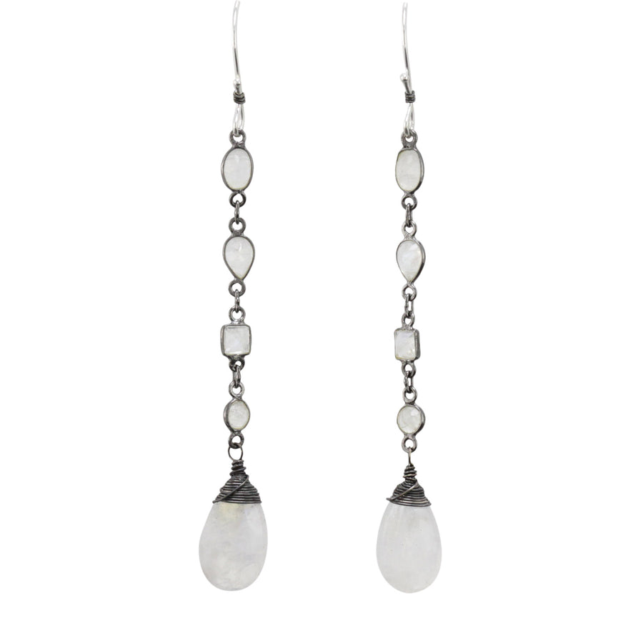 Lumen Moonstone Earrings