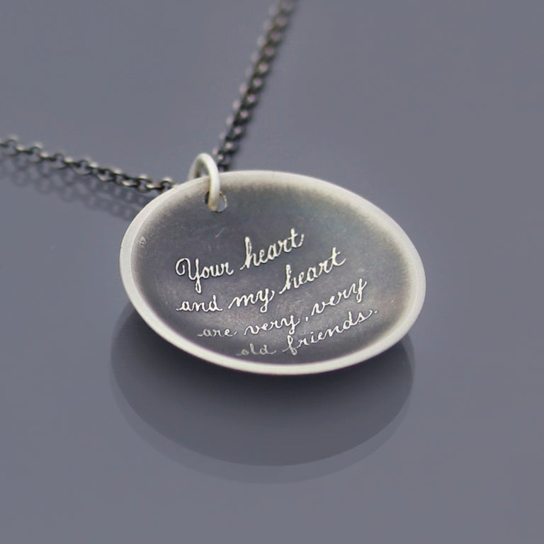 Friendship Quote Necklace