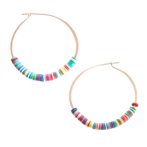 Laura Vinyl Hoop Earrings