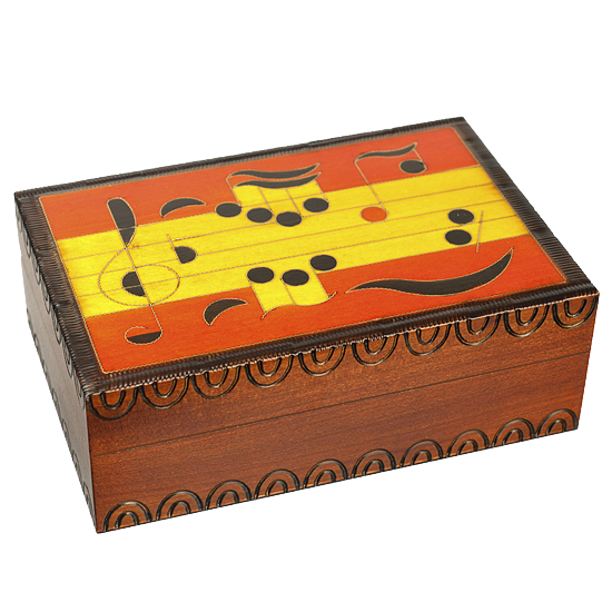 Musical Note Wooden Box