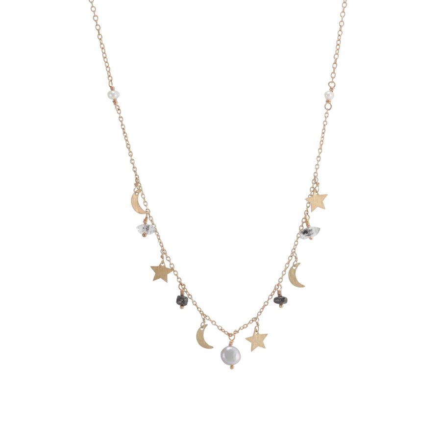 Rose Gold Stardust Necklace
