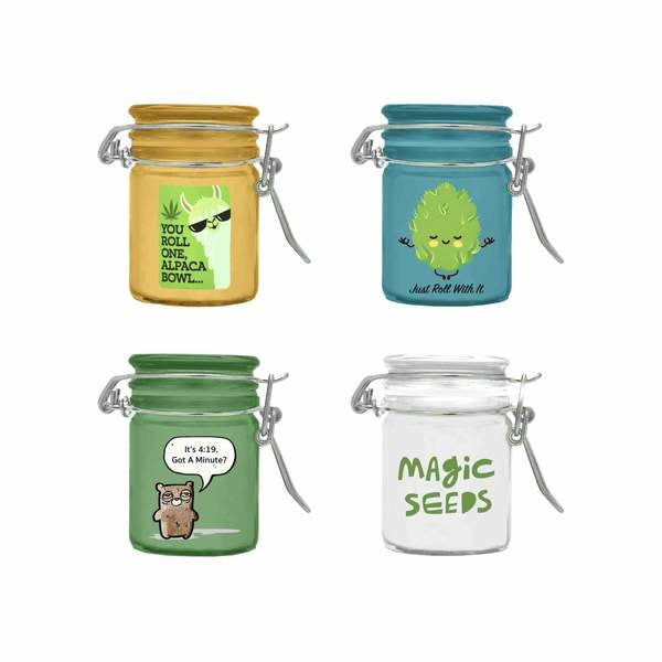 Pocket-size Stash & Seal Jars