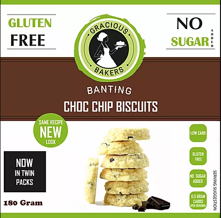 Choc Chip Biscuits Gluten Free Banting 180g Gracious Bakers Buy Online South Africa The Last Outpost Pty Ltd