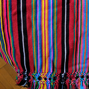 Backstrap Loom Woven Large Throw/Tablecloth