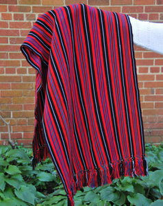 Cotzal Backstrap Loom Shawl/Throw 1
