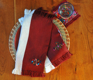 Backstrap Loom Woven Napkins (set of 2)