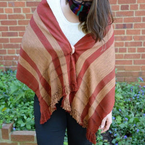 Backstrap Loom Rayon Shawl