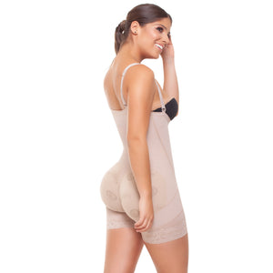 Strapless extra short girdle with abdominal zipper. Ref. 051641