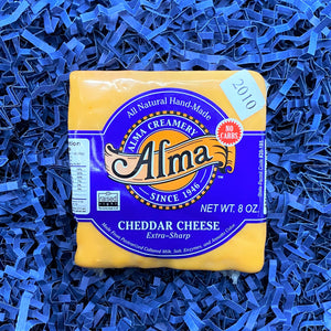2010 Extra Sharp Cheddar Cheese - 1 lb - Alma Cheese