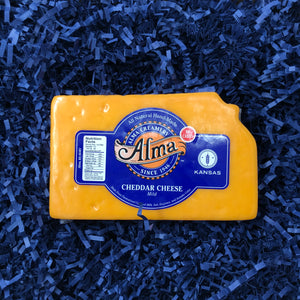 Kansas Cut Mild Cheddar Cheese - 1 lb - Alma Cheese